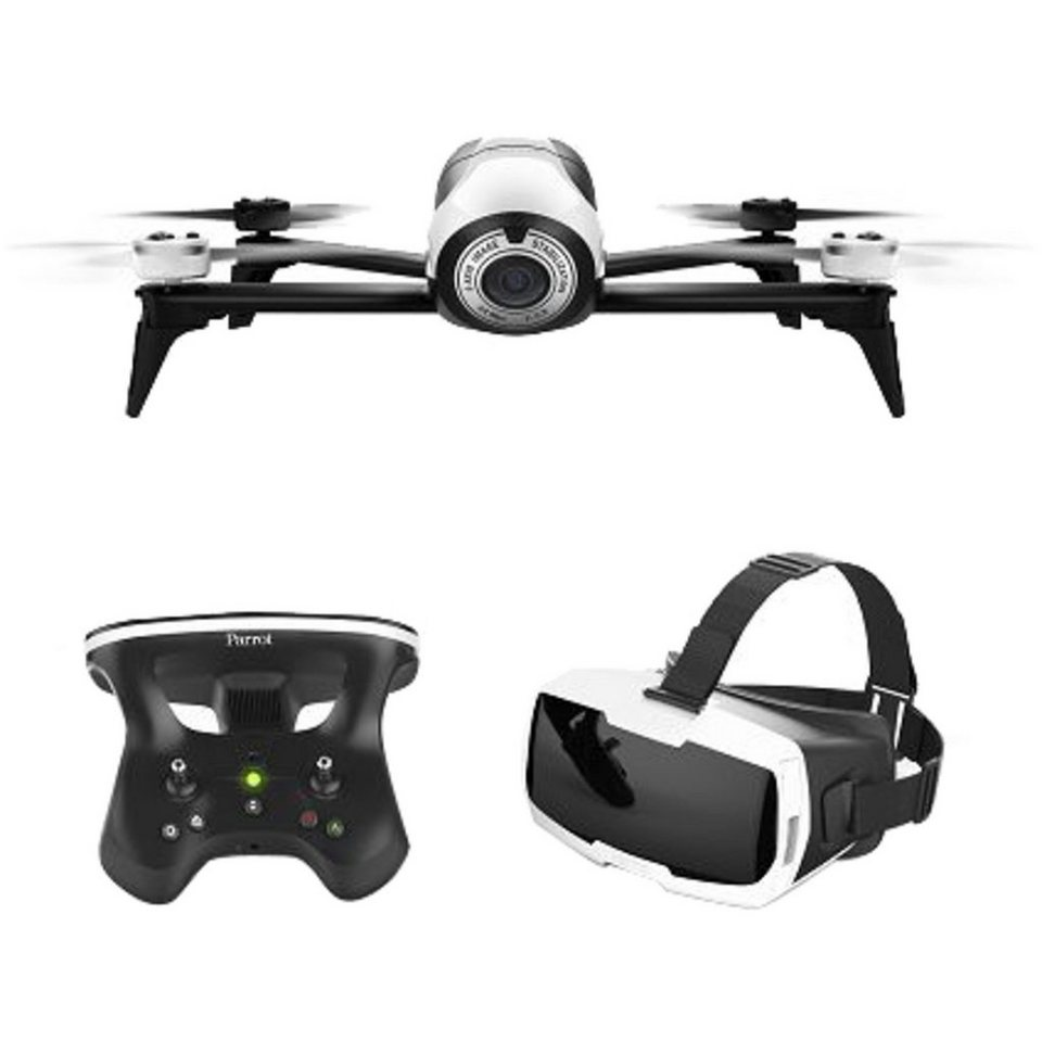 Parrot Drohne »Bebop 2 + Skycontroller 2 + FPV-Brille«