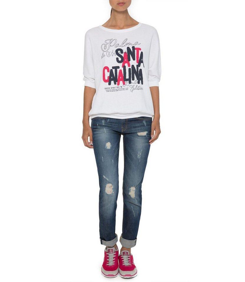 SOCCX Sweatshirt in weiß