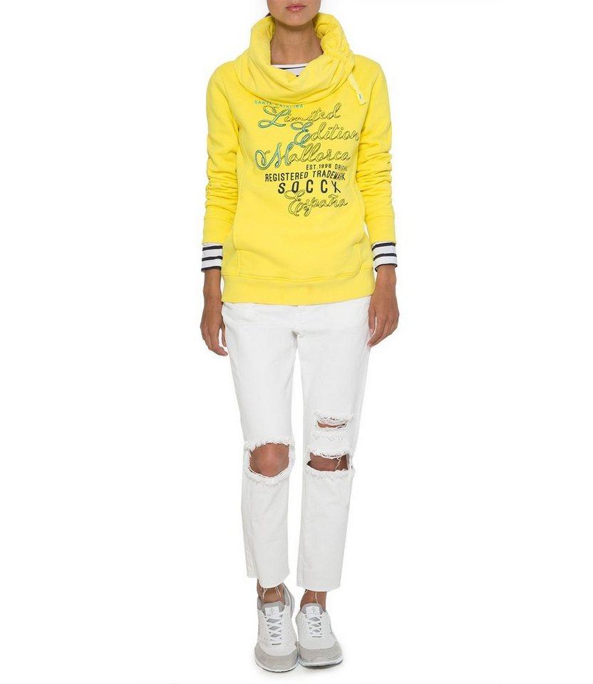 SOCCX Sweatshirt in sonnengelb
