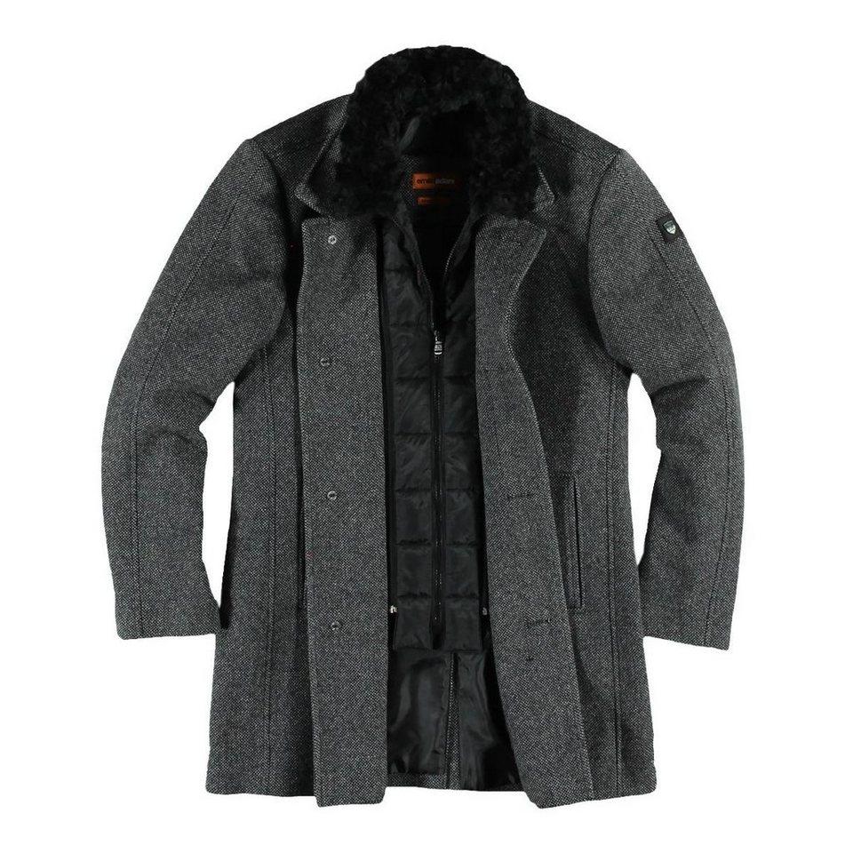emilio adani modischer Mantel mit herausnehmbaren Inlet in Anthrazit