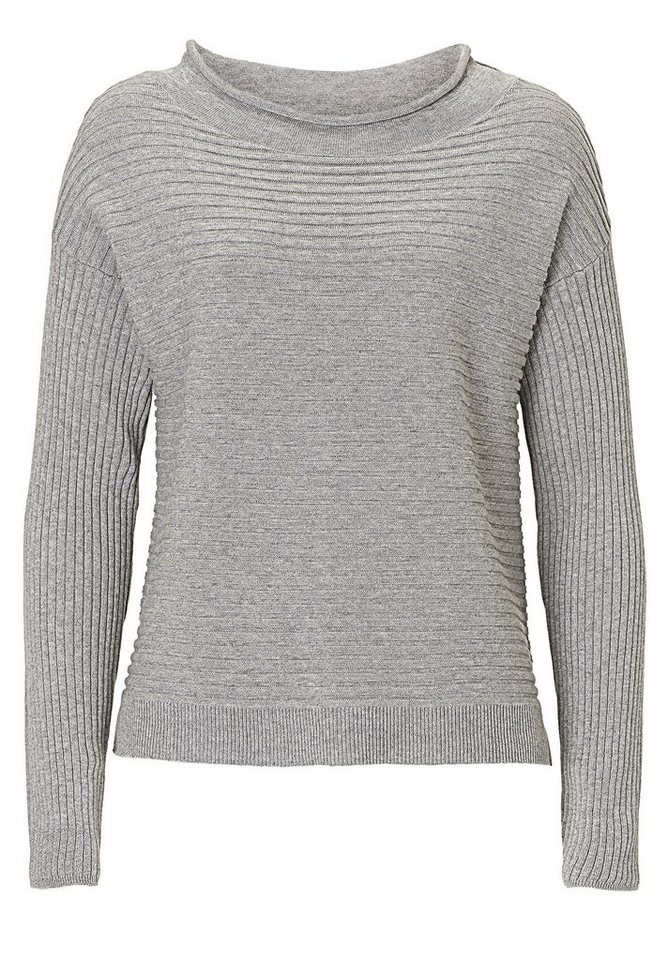 Betty&Co Strickpullover in Silver Melange - Bun