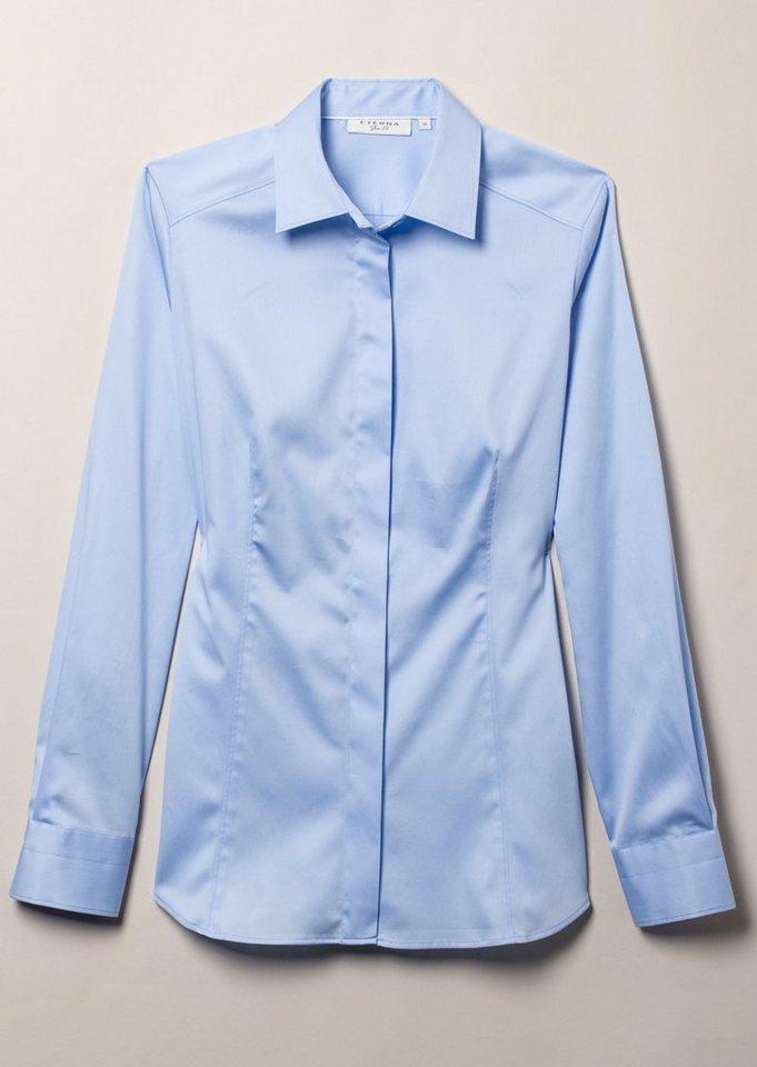 ETERNA 1/1-Arm Bluse »SLIM FIT« in hellblau