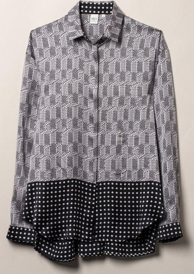 ETERNA 1/1-Arm Bluse »MODERN FIT« in schwarz