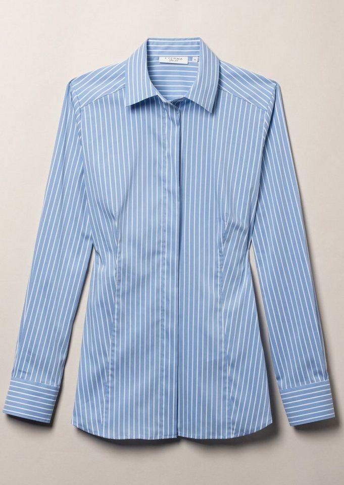 ETERNA 1/1-Arm Bluse »SLIM FIT« in blau