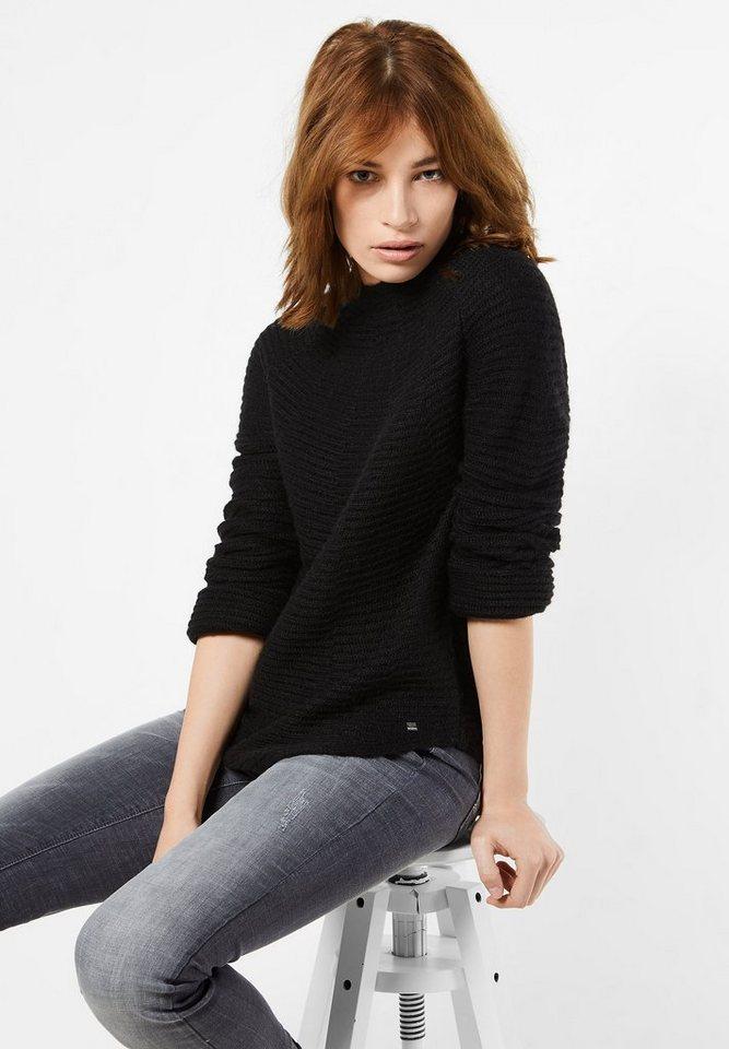 Street One Pullover mit Alpaka Eva in black