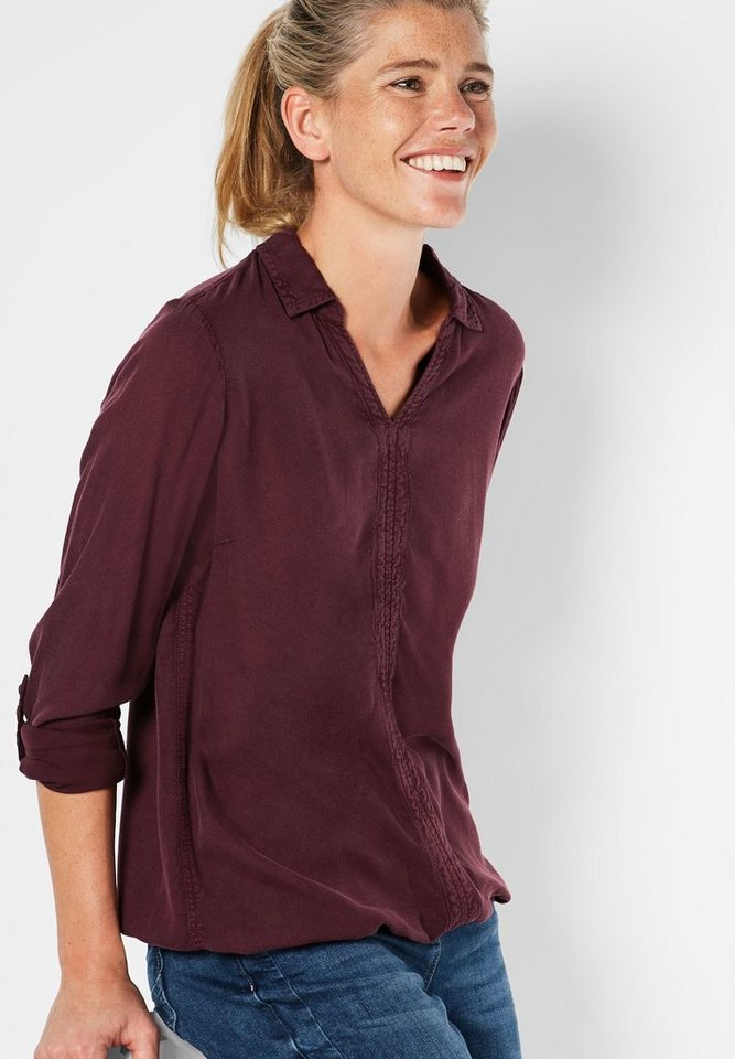 CECIL Individuelle Schlupfbluse in maroon red