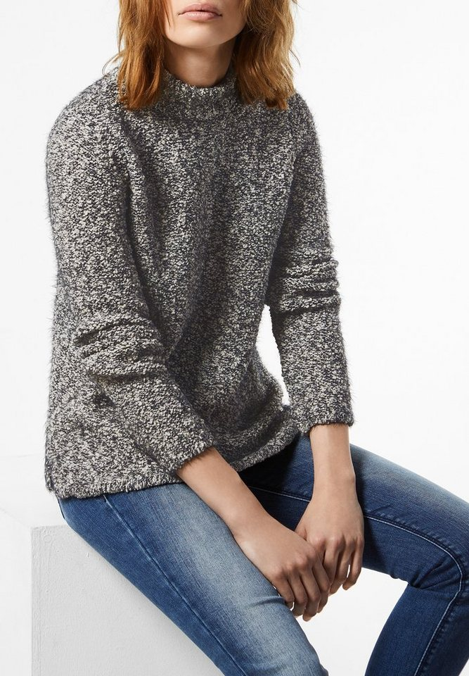 Street One Bouclé Pullover Edda in black