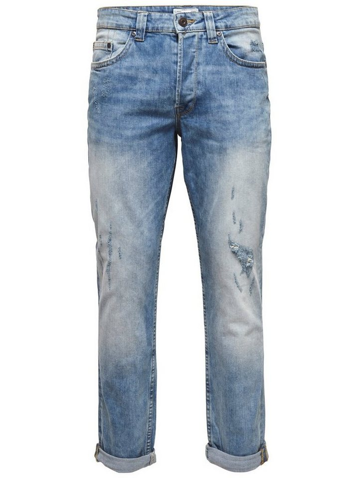 ONLY & SONS Weft med blue Regular fit Jeans in Medium Blue Denim