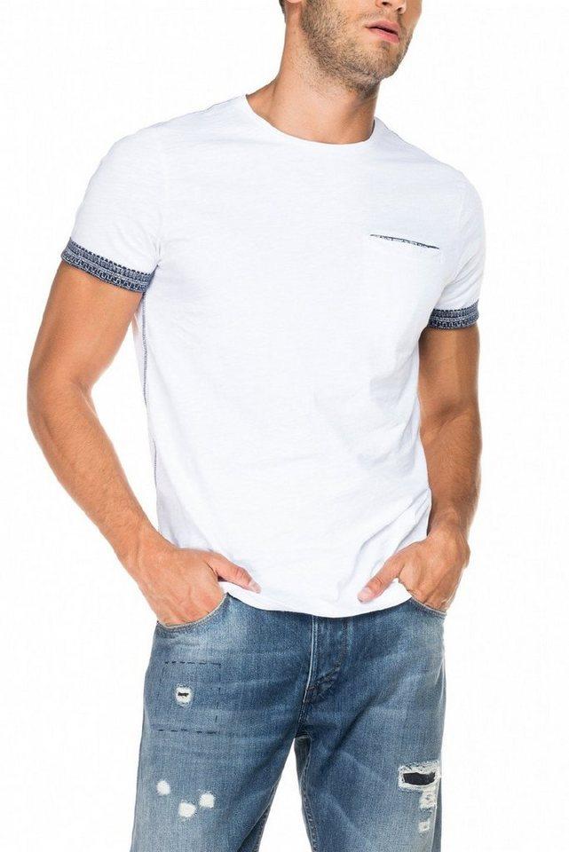 salsa jeans T-Shirt, kurzarm »PALM BEACH« in White