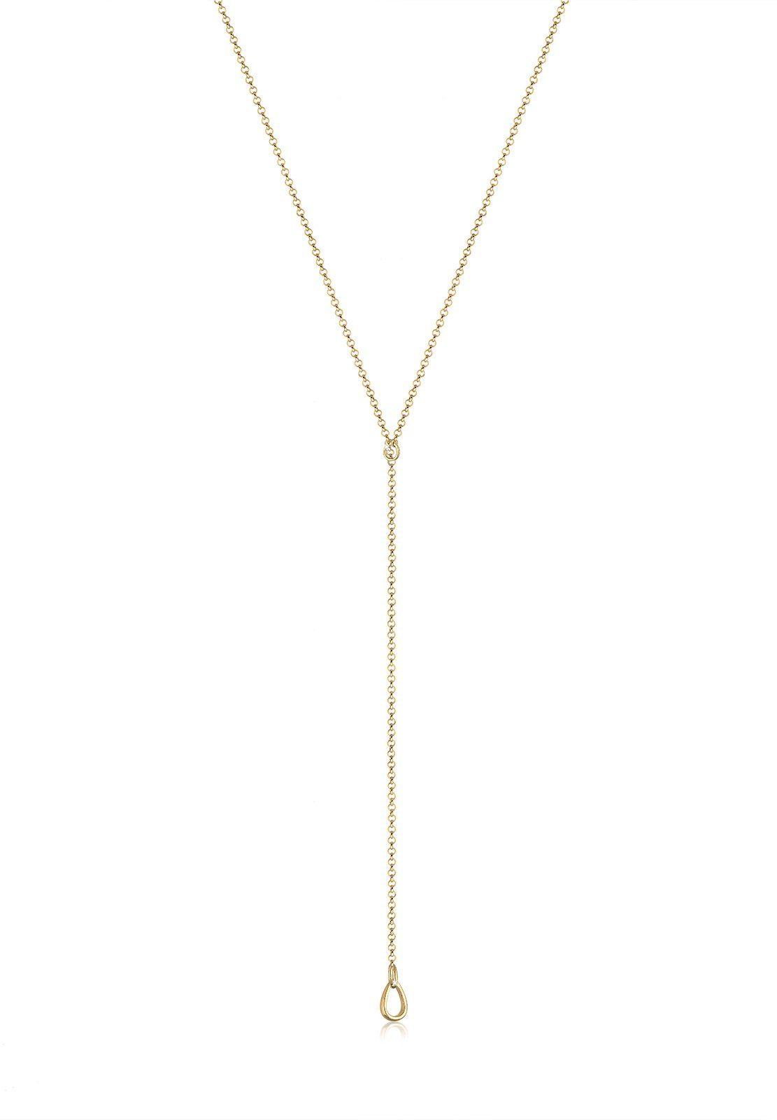 Elli Halskette »Basic Y-Kette Tropfen 925 Sterling Silber«