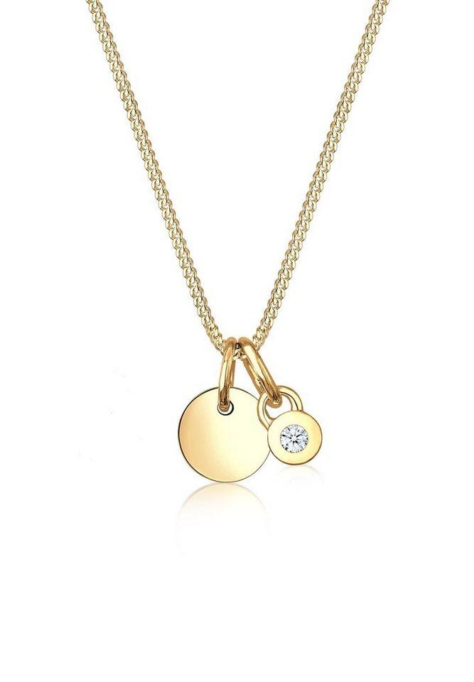 Diamore Halskette »Collier Diamore en cercle diamant 585 or jaune« in Gold
