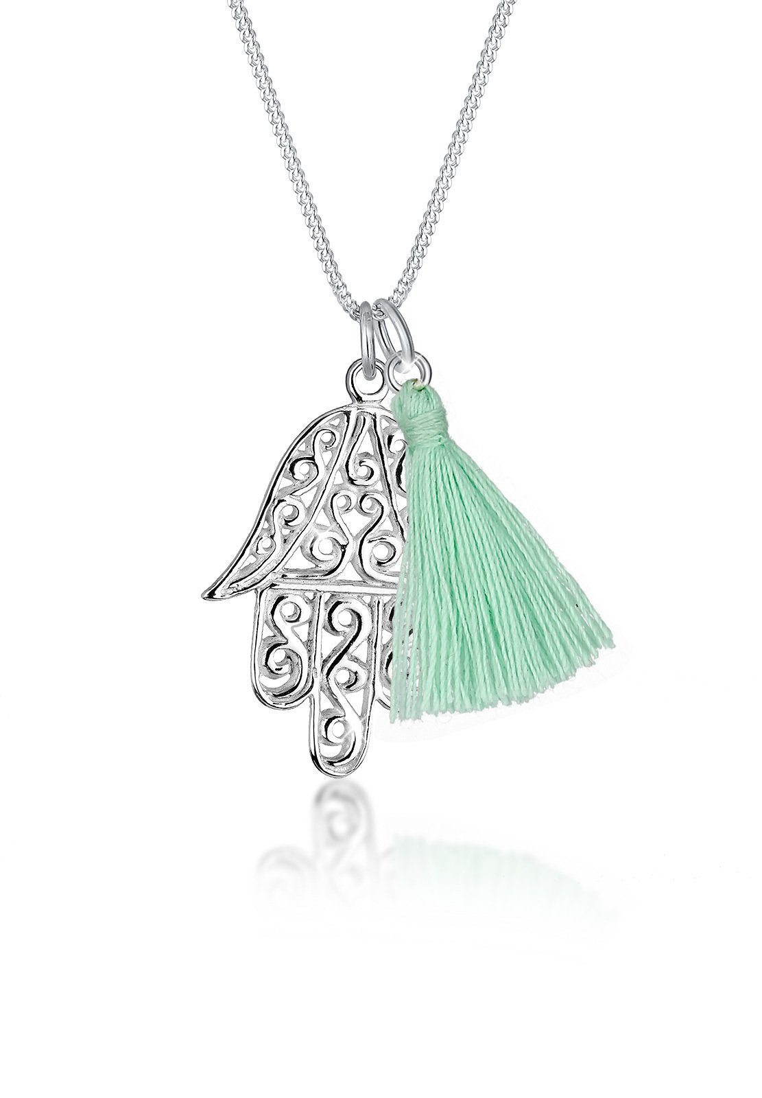Elli Halskette »Hamsa Hand Quaste Tassel 925 Sterling Silber«