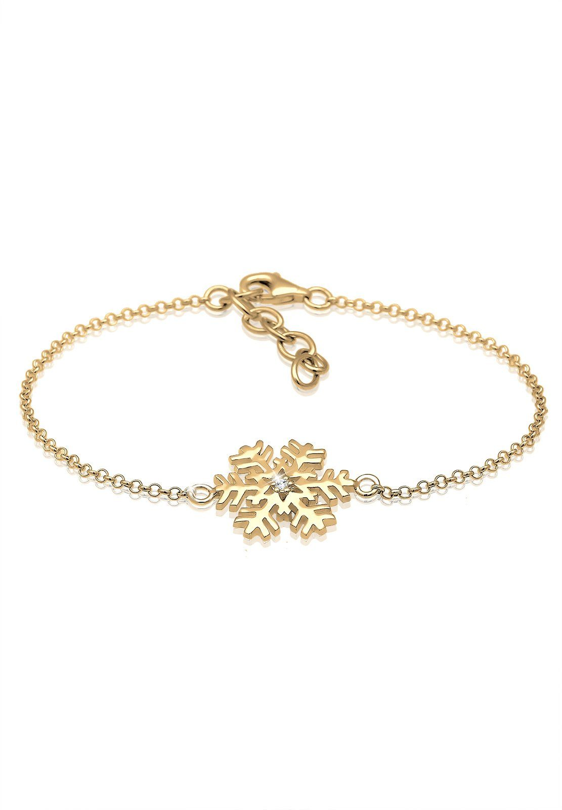 Elli Armband »Schneeflocke Swarovski® Kristalle 925 Silber«