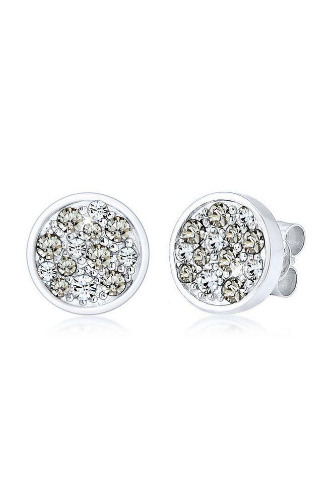 Elli Ohrringe »Kreis Swarovski® Kristalle 925 Sterling Silber« in Silber