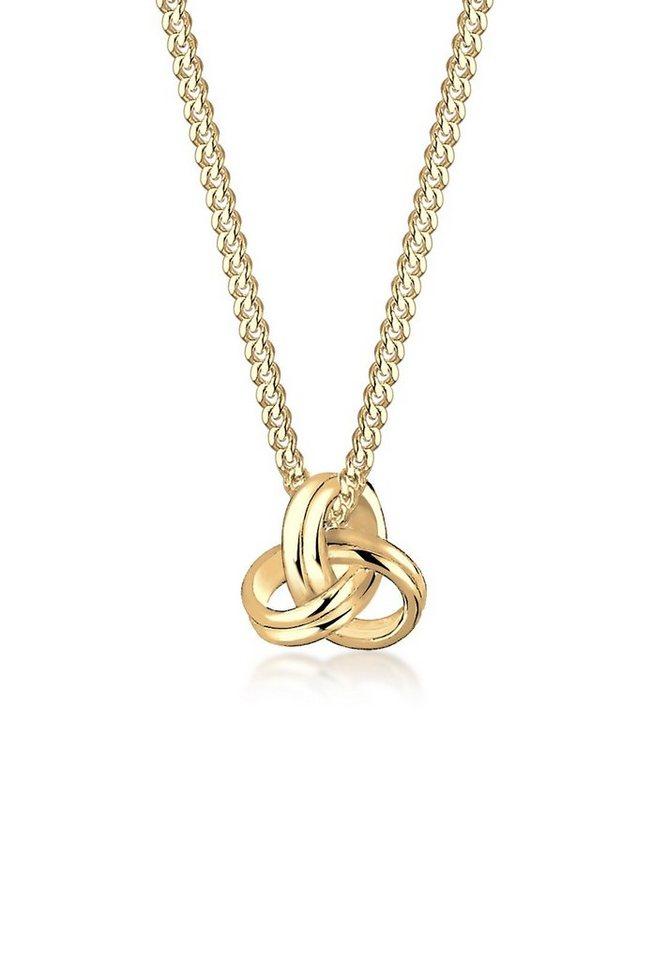Elli Halskette »Knoten 585 Gelbgold« in Gold