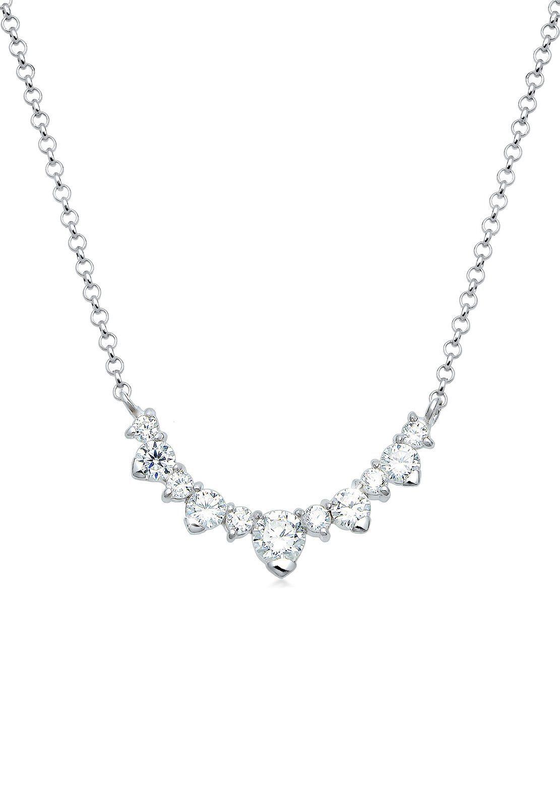 Elli Halskette »Collier Zirkonia 925 Sterling Silber«