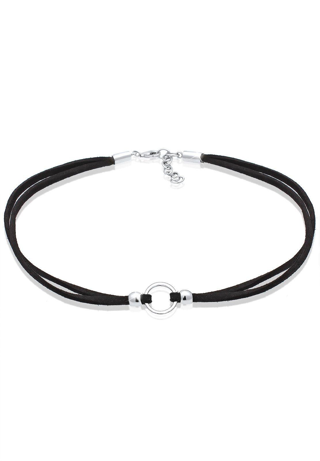 Elli Halskette »Trend Choker Kreis Band 925 Sterling Silber«