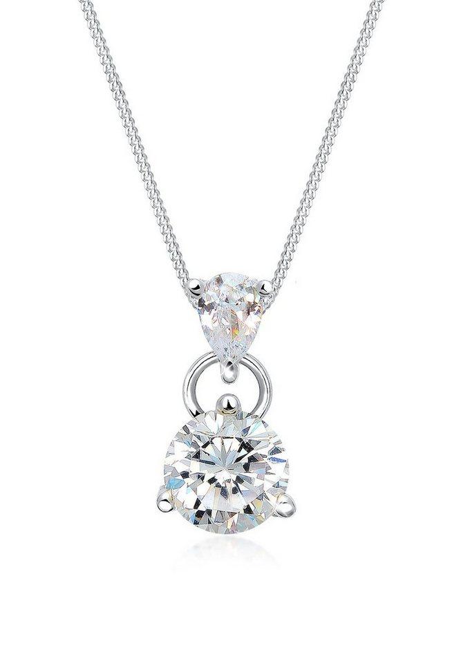 Elli Halskette »Zirkonia 925 Sterling Silber« in Silber