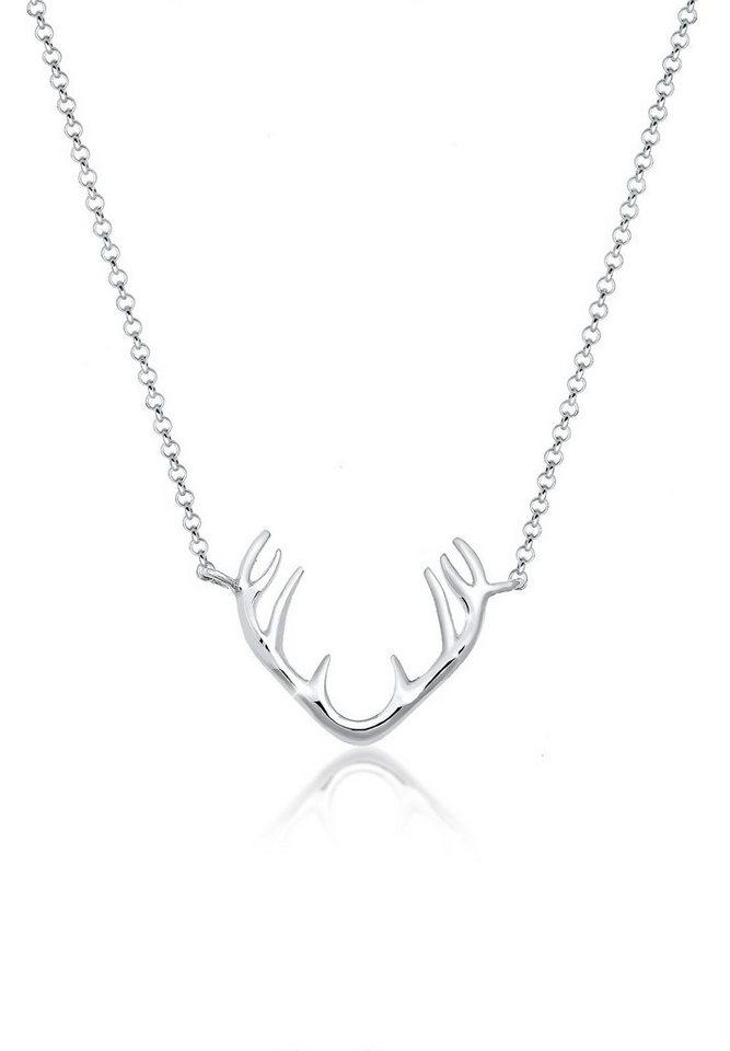 Elli Halskette »Rentier Geweih 925 Sterling Silber« in Silber