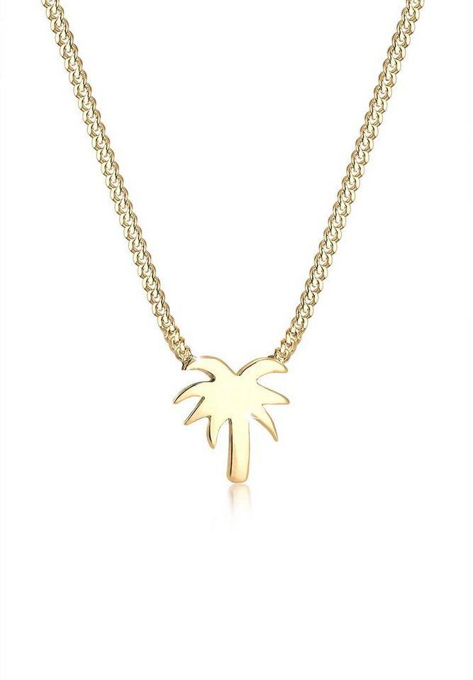 Elli Halskette »Palme Strand 925 Sterling Silber« in Gold