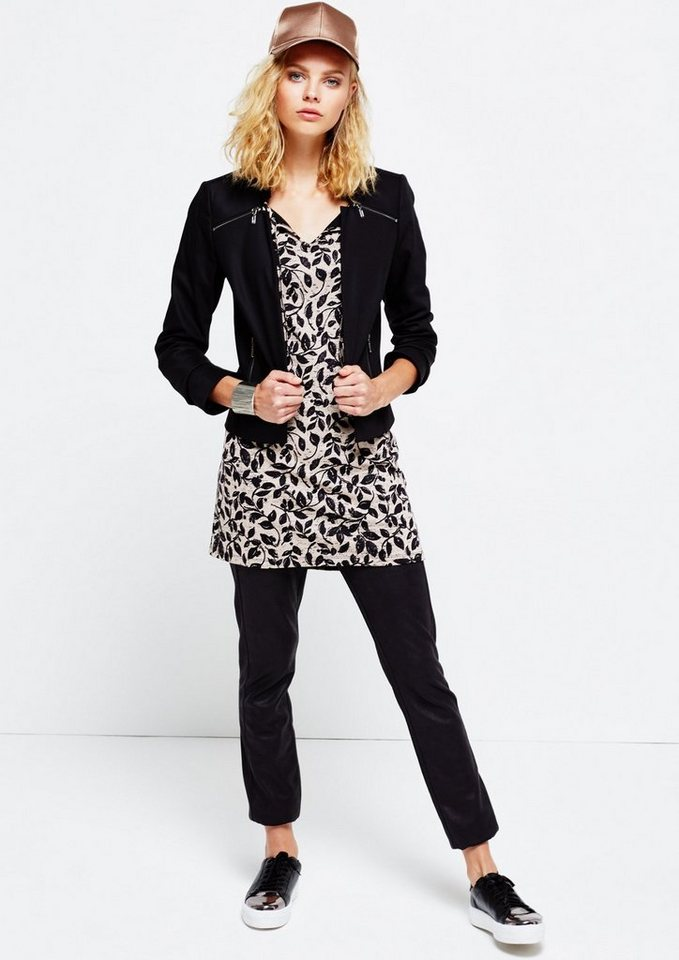 COMMA 3/4-Arm Longshirt mit aufregendem Alloverprint in pouder AOP winter le