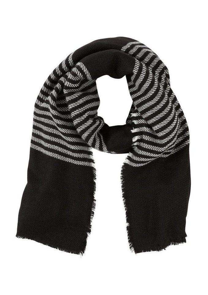 Q/S designed by Gewebter Schal mit Streifen in black stripes