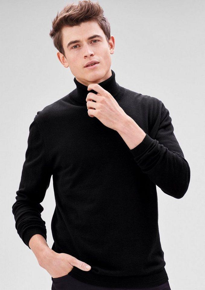 s.Oliver BLACK LABEL Rollkragenpullover aus Feinstrick in black