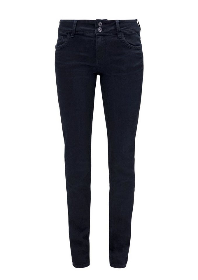 s.Oliver RED LABEL Shape Slim: Colored Stretch-Jeans in navy denim stretch