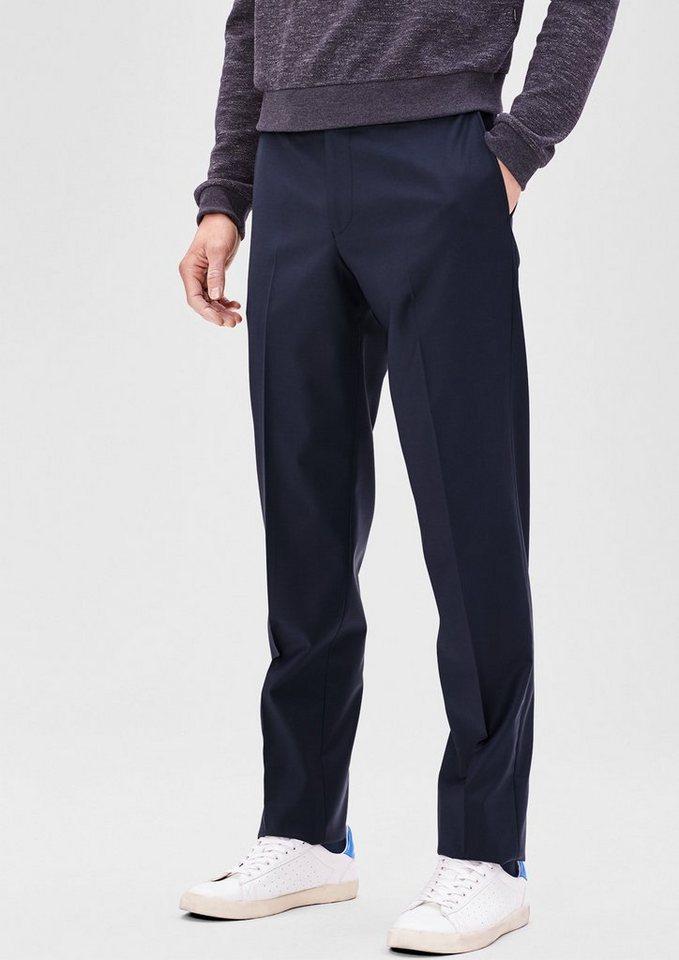 s.Oliver BLACK LABEL Slim: Businesshose mit Schurwolle in blue