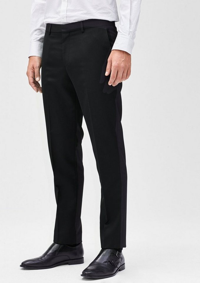 s.Oliver BLACK LABEL Slim: Festliche Businesshose in black