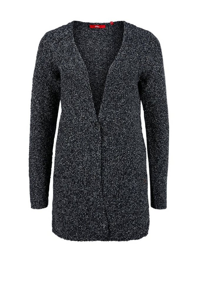 s.Oliver RED LABEL Longjacke aus Bouclé in navy knit
