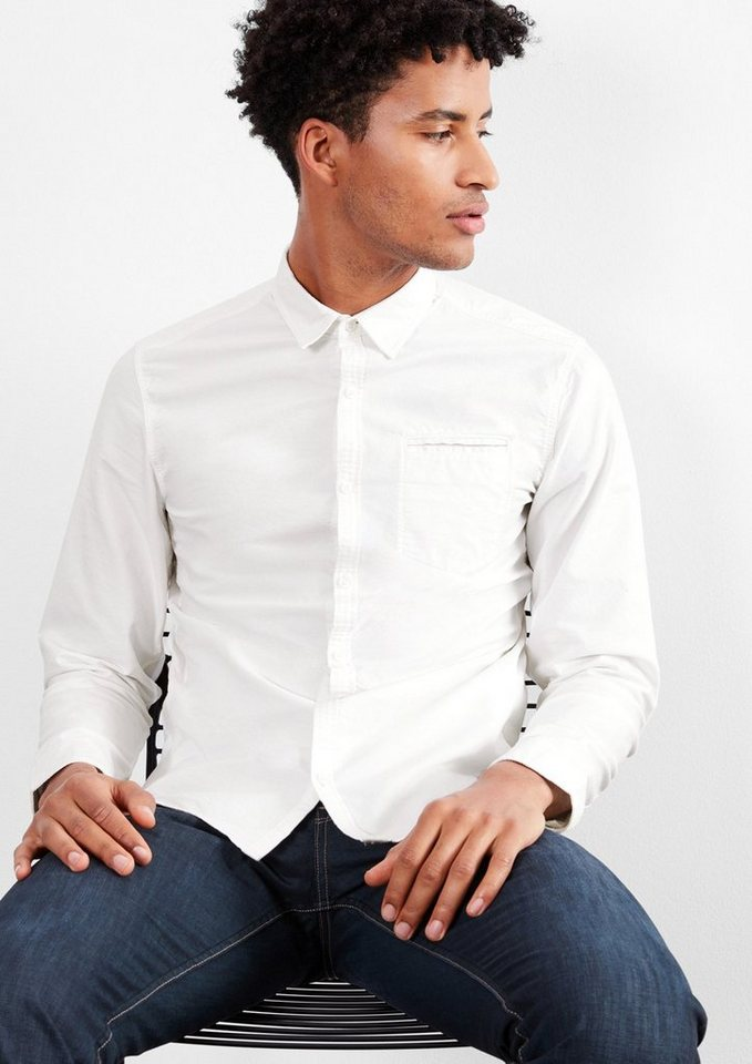 Q/S designed by Extra Slim: Oxford-Hemd in white