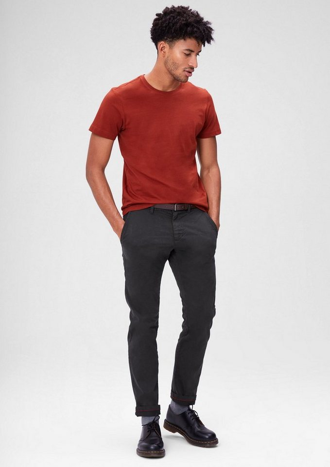 s.Oliver RED LABEL Sneck Slim: Samtige Stoff-Chino in charcoal