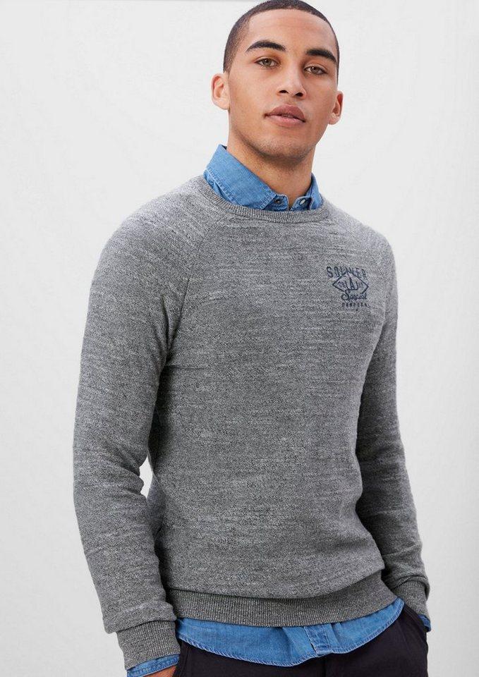 s.Oliver RED LABEL Strickpullover mit Stitching in blend grey