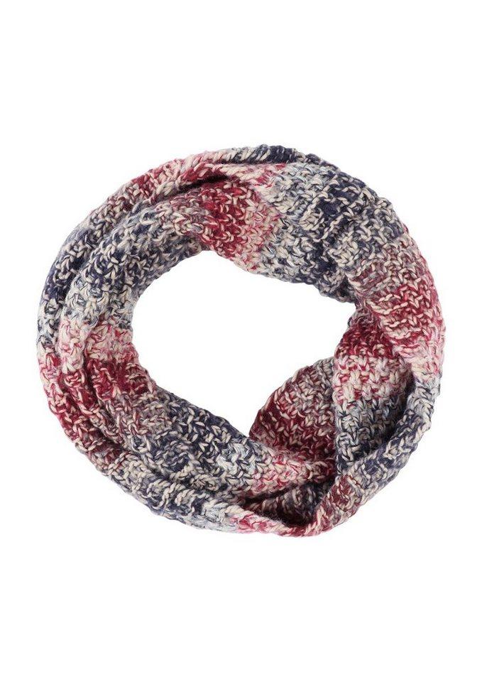 s.Oliver RED LABEL Loop aus meliertem Grobstrick in grey/black/red knit