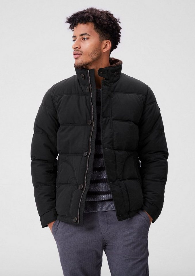 s.Oliver RED LABEL Gut gefütterte Twilljacke in black
