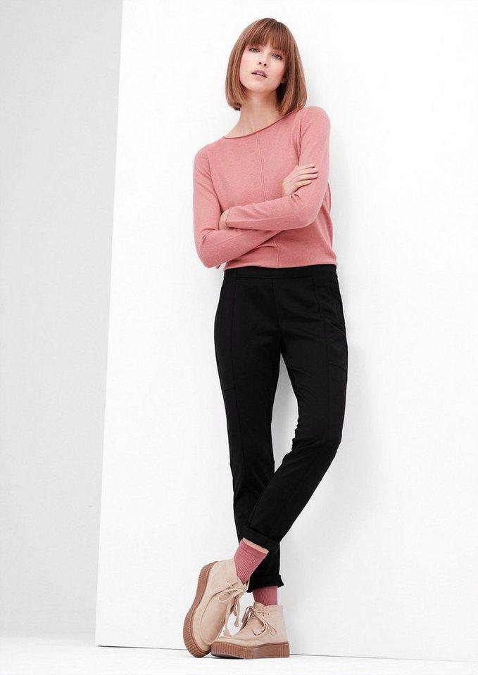 s.Oliver RED LABEL Shape Superskinny: Jersey-Hose in black