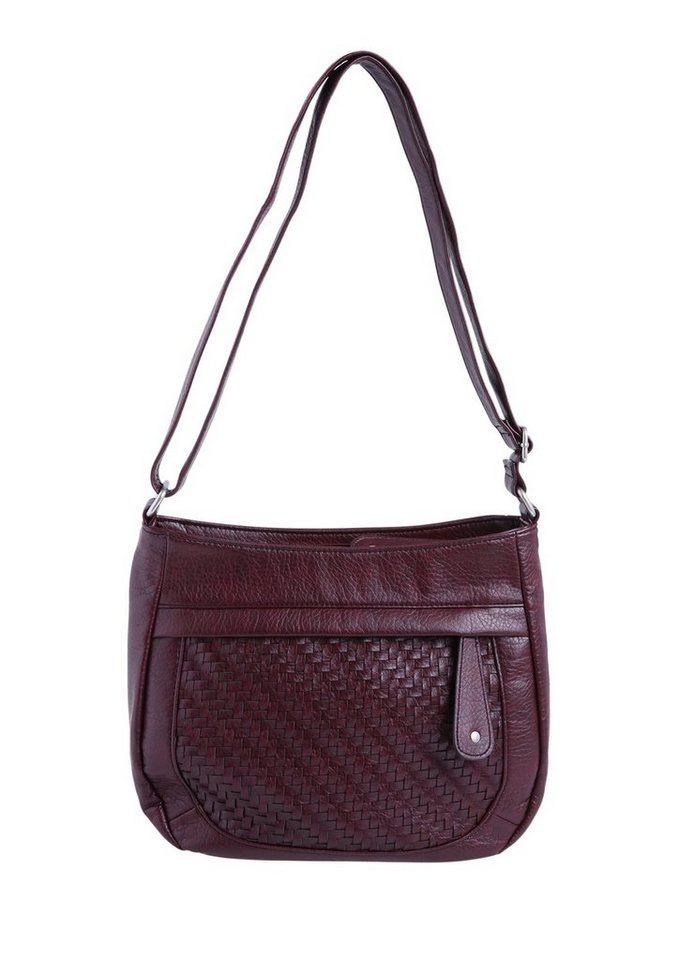s.Oliver RED LABEL Shoulder Bag mit Netz-Optik in dark plum