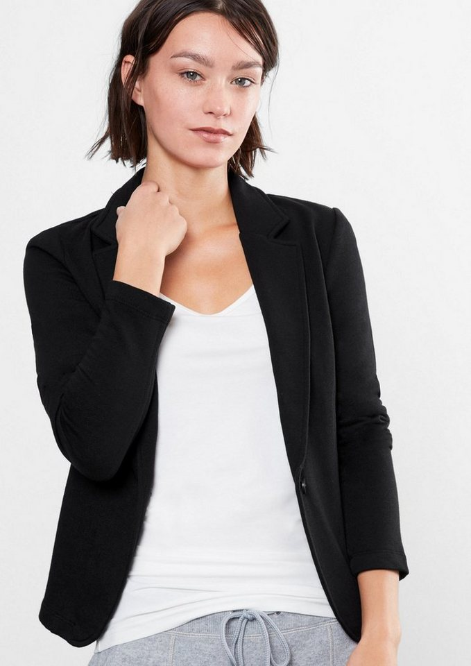 Q/S designed by Sweatjacke im Blazer-Stil in black