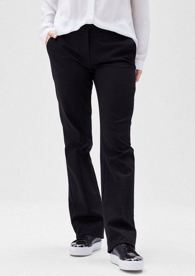 s.Oliver BLACK LABEL Businesshose mit geradem Bein in love black
