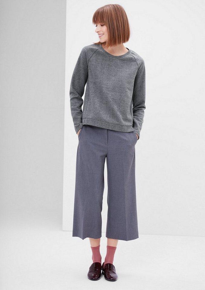 s.Oliver RED LABEL Sweatshirt mit Fischgrat-Struktur in pewter grey melange