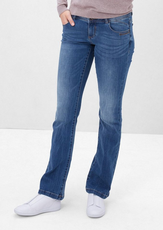 s.Oliver RED LABEL Shape Bootcut: Stretchige Jeans in blue denim stretch