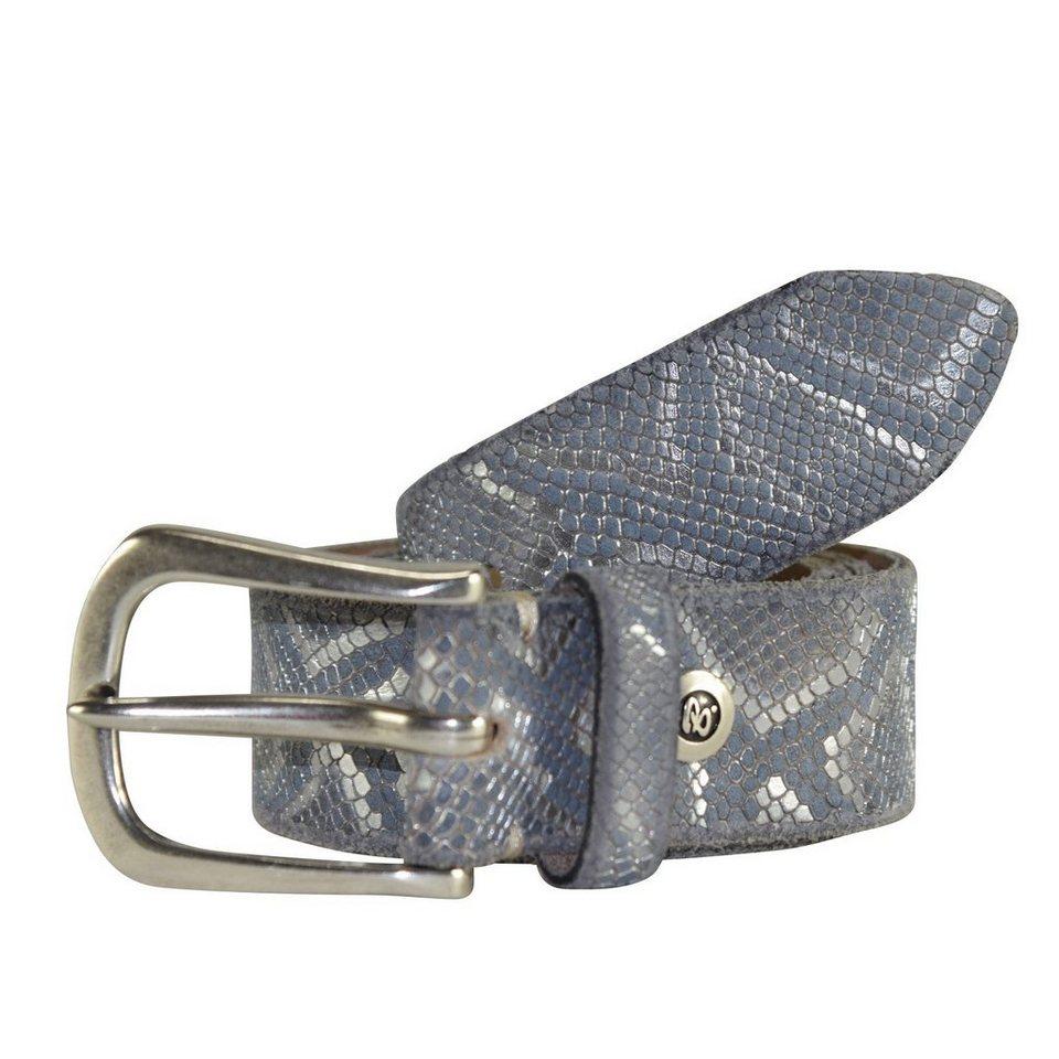 b.belt Gürtel Leder 90 cm in grau