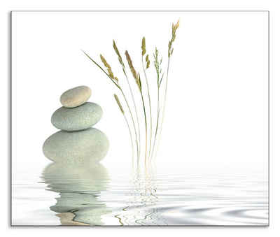 Artland Küchenrückwand »Zen Friede«, (1-tlg), selbstklebend in vielen Größen - Spritzschutz Küche hinter Herd u. Spüle als Wandschutz vor Fett, Wasser u. Schmutz - Rückwand, Wandverkleidung aus Alu