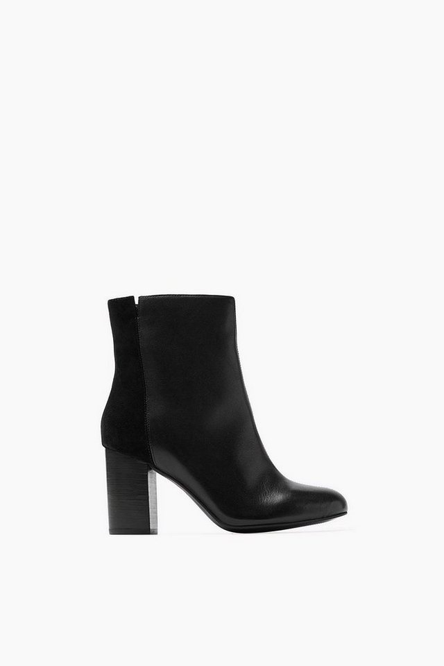 ESPRIT CASUAL Material Mix Fashion Bootie in BLACK