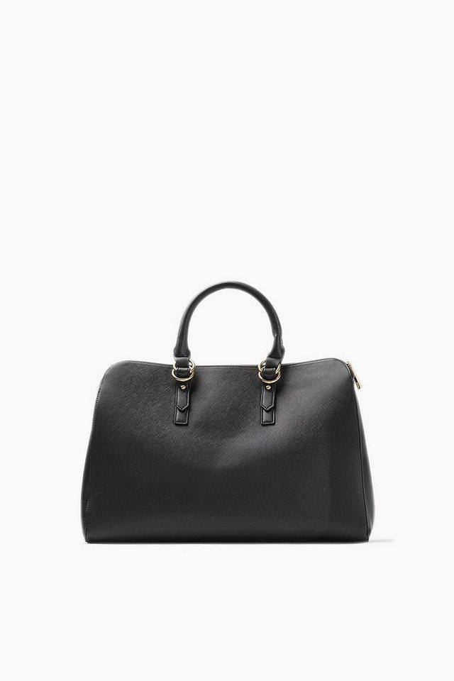 ESPRIT CASUAL Saffiano Tote Bag mit gepolstertem Fach in BLACK