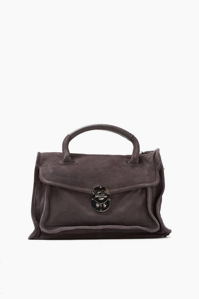 ESPRIT CASUAL Lässige City Bag aus rauem Veloursleder in ANTHRACITE