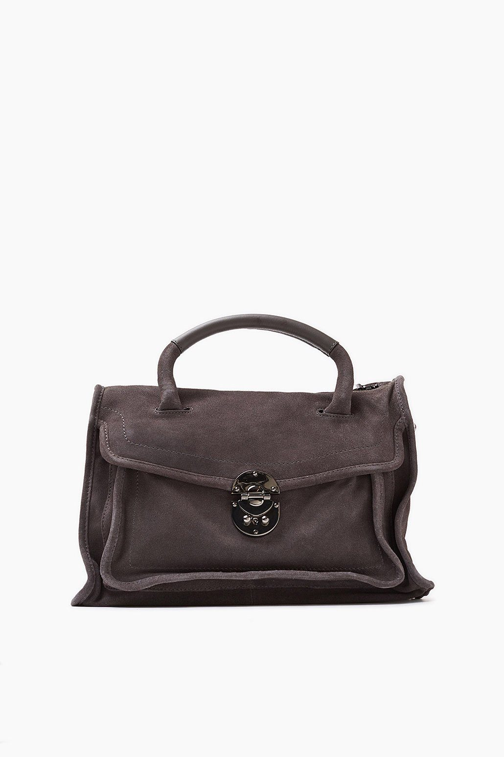 ESPRIT CASUAL Lässige City Bag aus rauem Veloursleder