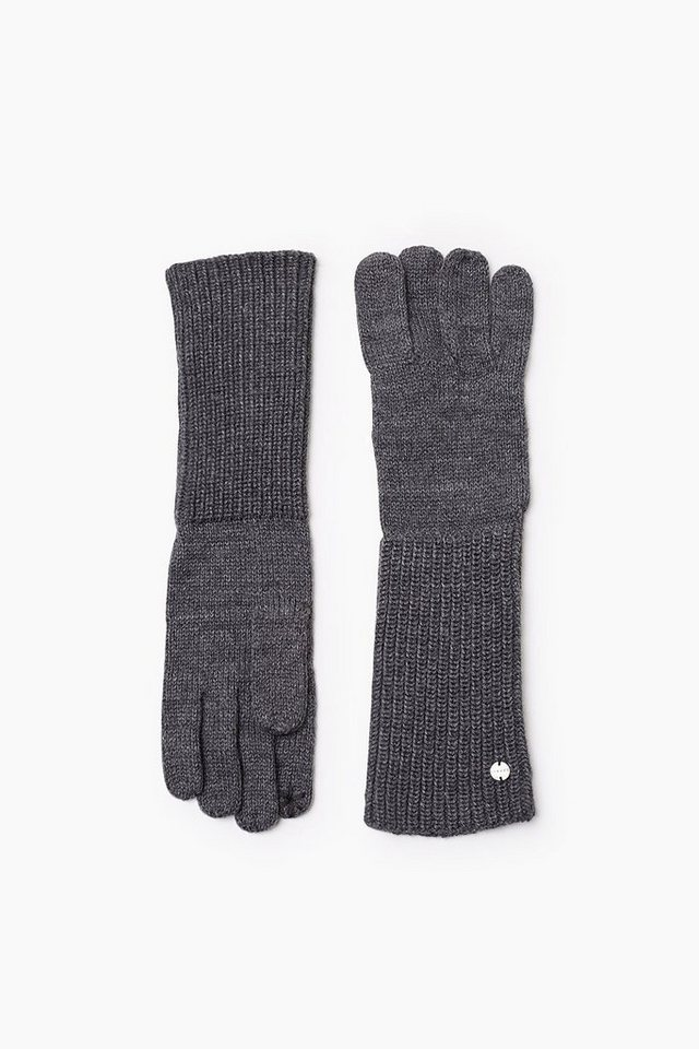 ESPRIT CASUAL Touchscreen Strickhandschuhe in DARK GREY
