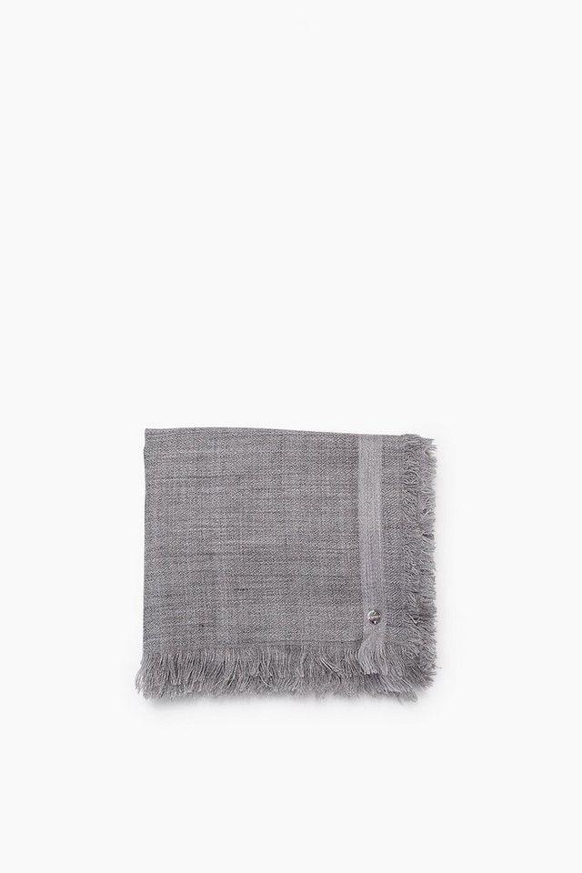 ESPRIT CASUAL Leichtes Webtuch mit Streifen, Woll-Mix in DARK GREY